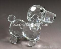 lovely crystal dog standing