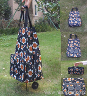 Multi-color Wheeled Shopping Bags