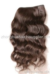 human hair extension weaving weft