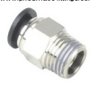 Male Straight pneumatic hose fittings