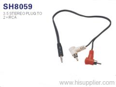 3.5 Stereo Plug to 2 RCA