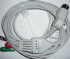 One piece ECG cable 5 leads