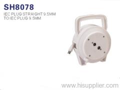 AV cable-IEC Plug Straight 9.5mm to IEC Plug