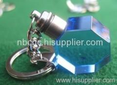 blue crystal keychains