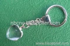 heart crystal keychains