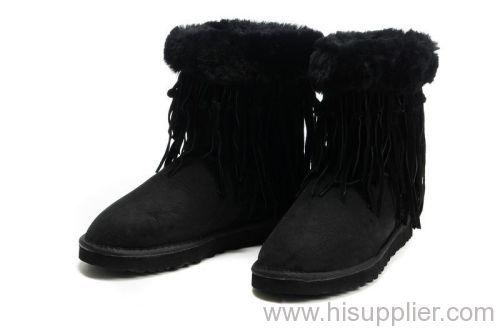 4a5e6c9b2f1 UGG 5835 Black Women's Tassel Short Boots UGG 5835 manufacturer from ...