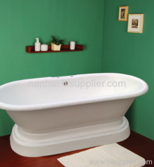 freestanding pedestal tub