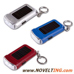 Solar Keychain with Flashlight