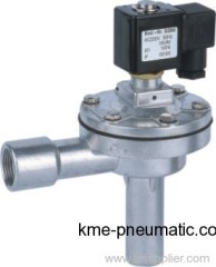Right angle solenoid pulse valve