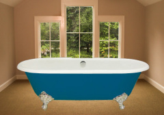 enamel double ended bath
