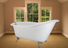 single slipper cast iron bath