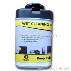 non-woven spunlace LCD wet cleaning wipe