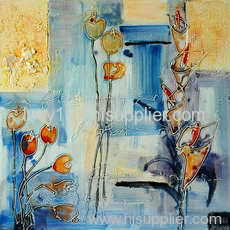 colorful flower oil painting