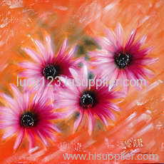 fancy flower oil painting