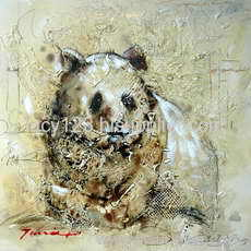 heavy color animal oil painting