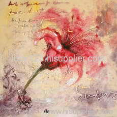 textured flower oil painting