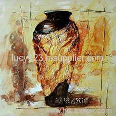 textured utensil oil painting