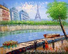 street oil painting