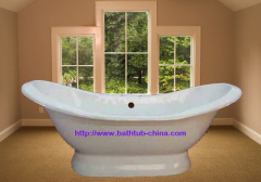 double slipper pedestal bath