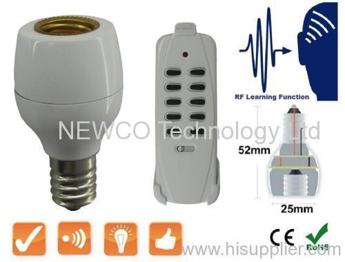 Wireless RF E14 Light Bulb Cap Socket Remote Control Lamp Holder Switch