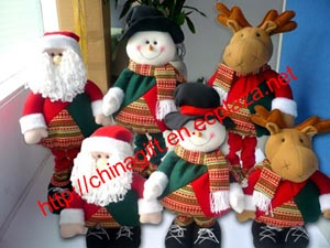 Flexible Leg Christmas Ornament Doll