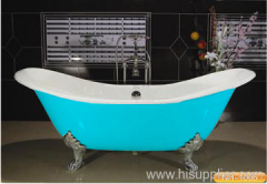 double slipper cast iron baths