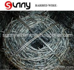 2 strands barbed wire