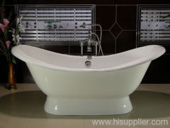 pedestal cast iron enamel bathtub