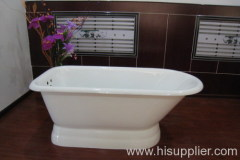 roll top pedestal bathtub