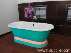 pedestal cast iron enamel bath tub