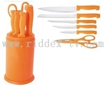 6pcs knives set with PP block