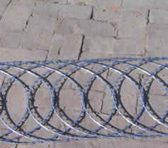 hot dipped razor wire fence