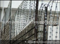 galvanized razor barbed wires