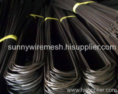 black annealed U type wire