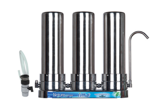 3stage counter top stainless steel water filters