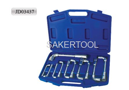 angle open socket wrench set