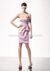 Elegant Square neckline knee-length evening dress