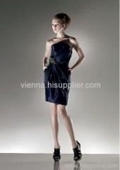 Beautiful Sleeveless Above knee-length taffeta evening dress