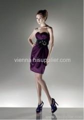 Fashion Satin Sweetheart neckline Column silhouette Above knee-length evening dress