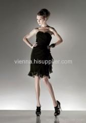 Elegant Chiffon Sweetheart neckline Above Knee-length Evening dress