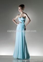 Elegant Chiffon Sweetheart neckline Floor-length evening dress