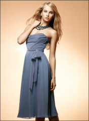 Classic Chiffon Square Tea-length brideamaid dress