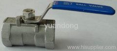 Stainless Steel One Piece Ball Valves