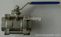 Stainless Steel Three piece ball valves