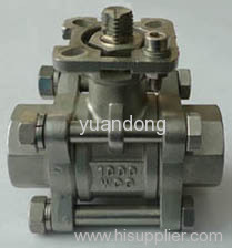 Ball Valve With Mounting