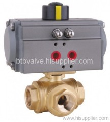 3-way Pneumatic Ball Valve