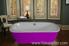 stainless steel cover cast iron bath