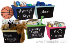 Two Chalkboard Storage Bins
