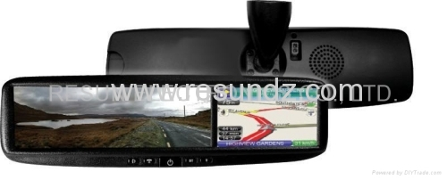 Car Rearview Mirror with 4.3 inch LCD Touch Screen GPS Navigation Bluetooth