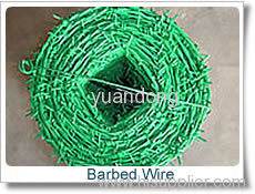 PVC Coated Barbed Iron Wires